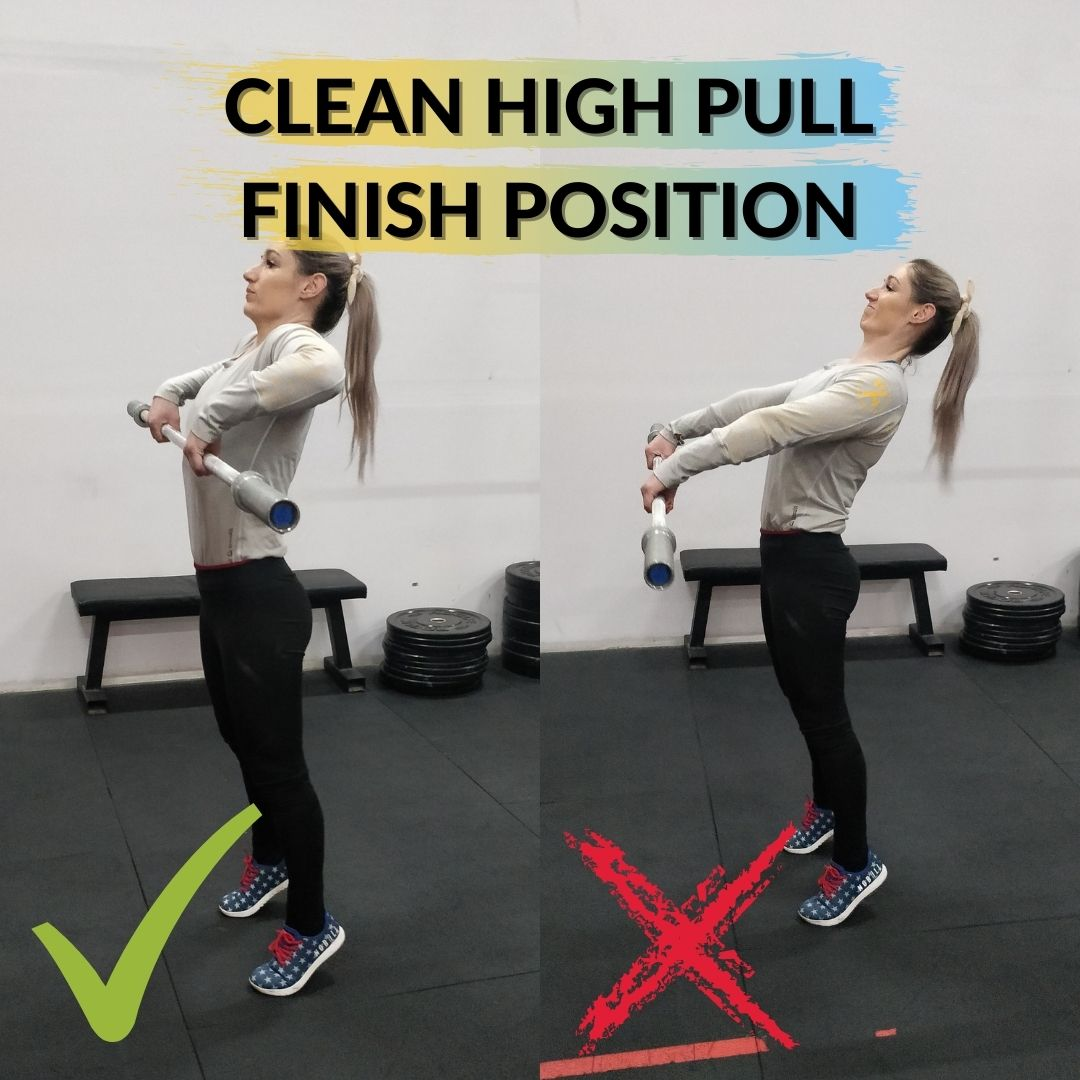 Clean High Pull Finish Position